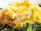 Рецепта Сарма с пилешко месо, ориз и топено сирене